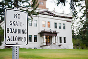 A sign in Ely, Nevada warns that there is No Skateboarding Allowed. Missoula Photographer
