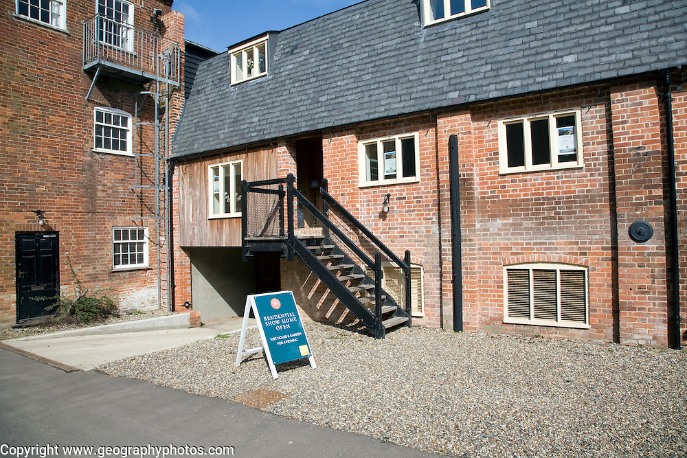 Conversion of former industrial building into housing at Snape Maltings Suffolk