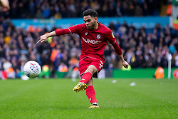 Jay Dasilva of Bristol City crosses the ball - Mandatory by-line: Daniel Chesterton/JMP - 15/02/2020 - FOOTBALL - Elland Road - Leeds, England - Leeds United v Bristol City - Sky Bet Championship