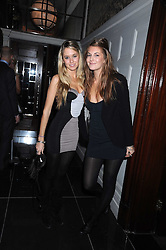 Left to right, FLORENCE BRUDENELL-BRUCE and LARA PILKINGTON at a party for Yves Saint Laurent's Creative Director Stefano Pilati given by Colin McDowell held at The Connaught Bar, The Connaught, Mount Street, London on 29th October 2008.
