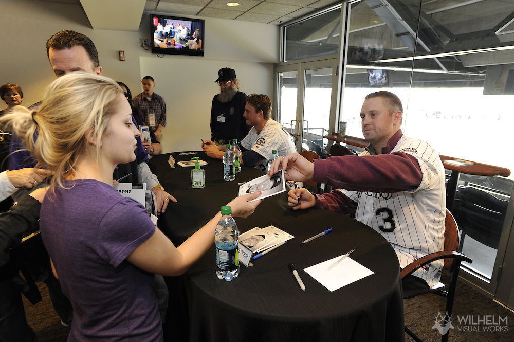 2012 JAN 21: The Colorado Rockies held their annual Rockies Fest for season ticket holders and fans at Coors Field in Denver, CO. Photo: Brett Wilhelm/ Rich Clarkson and Associates, LLC