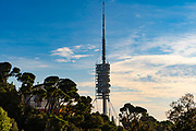 Norman Foster designed Torre de Collserola Communications Tower, Tibidabo, Barcelona, Spain