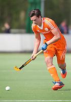 AMSTELVEEN - Olivier van Tongeren.  Oefenwedstrijd tussen het Nederlands Team Jongens B tegen Bloemendaal A1. COPYRIGHT KOEN SUYK