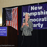 Secretary of Health and Human Services Kathleen Sebelius speaks at a NH Democratic Party Breakfast at the 2012 Democratic National Convention