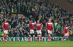 Bristol City players look dejected - Mandatory by-line: Arron Gent/JMP - 23/02/2019 - FOOTBALL - Carrow Road - Norwich, England - Norwich City v Bristol City - Sky Bet Championship
