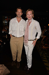 Patrick Grant and Henry Conway at the Quaglino's Q Legends Summer Launch Party hosted by Henry Conway at Quaglino's, 16 Bury Street, London England. 18 July 2017.<br /> Photo by Dominic O'Neill/SilverHub 0203 174 1069 sales@silverhubmedia.com