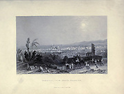 Damascus Syria as seen from Salahyeh. From Syria, the Holy Land, Asia Minor, etc. : by  Carne, John, 1789-1844; Bartlett, W. H. (William Henry), 1809-1854; Purser, William Publisher: London, Fisher [1839-40]