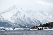 In the fjord hiding from the wind, Moere coastline, Norway