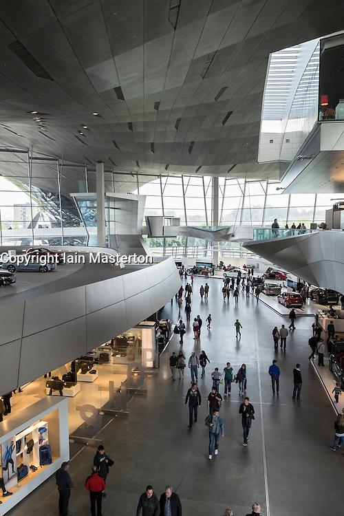Interior of BMW Welt or BMW World in Munich Germany