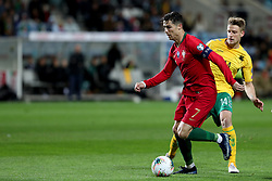 November 14, 2019, Faro, Portugal: Portugal's forward Cristiano Ronaldo (L) vies with Lithuania's midfielder Vykintas Slivka during the UEFA Euro 2020 Group B football qualification match between Portugal and Lithuania at the Algarve stadium in Faro, Portugal, on November 14, 2019. (Credit Image: © Pedro Fiuza/ZUMA Wire)