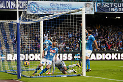 October 29, 2017 - Napoli, Napoli, Italy - Naples - Italy 29/10/2017.DRIES MERTENS  of S.S.C. NAPOLI  scores a goal during match between S.S.C. NAPOLI and SASSUOLO at Stadio San Paolo of Naples. (Credit Image: © Emanuele Sessa/Pacific Press via ZUMA Wire)
