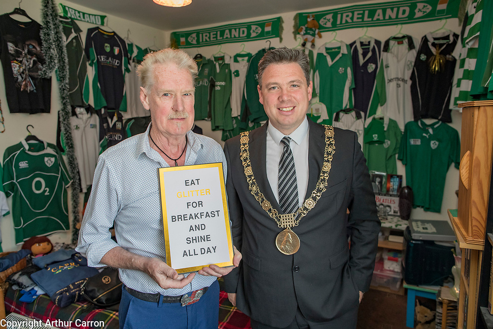 NO FEE PICTURES<br /> Dublin, 3rd July 2019  The Lord Mayor of Dublin, Paul McAuliffe and Deputy Chief Executive of Dublin City Council, Brendan Kenny, joined ALONE CEO, Seán Moynihan, at the launch of 50 new ALONE age-friendly housing units in Jamestown Court, Dublin 8. Picture:Arthur Carron<br /> Pictured are:<br /> Paul McAuliffe, Lord Mayor of Dublin<br /> Brendan Kenny, Deputy Chief Executive of Dublin City Council <br /> Seán Moynihan, CEO of ALONE<br /> Noel McDonald, Jamestown Court tenant