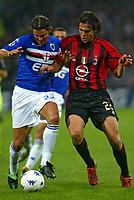 Genova 30-10-2004<br /> <br /> Campionato  Serie A Tim 2004-2005<br /> <br /> Sampdoria Milan<br /> <br /> nella  foto  Simone Pavan Sampdoria (L), Ricardo Kaka' Milan (R)<br /> <br /> Foto Snapshot / Graffiti
