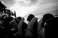 27 people, 2 of them women were saved from a supply boat nearby some oil platform north Sabratah, 55 NM from the coast. Migrants were transfered to the Aquarius in the afternoon. Federico Scoppa