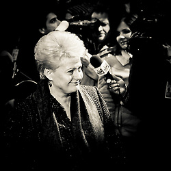 20101216 - BRUSSELS, BELGIUM:   President of the Republic of Lithuania Dalia Grybauskaite arrives for the European Union head of states meeting, in Brussels..Photo: SCORPIX / Patrick Mascart
