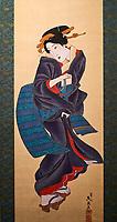 Japon, île de Honshu, région de Kansaï, Kyoto, musée de Kyoto, peinture Ukiyo-e, mouvement artistique de l'époque d'edo // Japan, Honshu island, Kansai region, Kyoto, Ukiyo-e painting