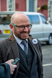 Pictured: Patrick Harvie<br /><br />The party's co-leaders, Patrick Harvie and Lorna Slater, were joined  by candidates as they gathered at the iconic Forth Bridge to launch their general election campaign, demanding climate action.<br /><br />Ger Harley | EEm 8 November 2019