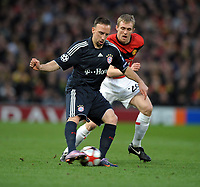 Franck Ribery<br /> Manchester United 2009/10<br /> Manchester United V Bayern München 07/04/10<br /> UEFA Champions League Quarter Final 2nd Leg<br /> <br /> Norway only