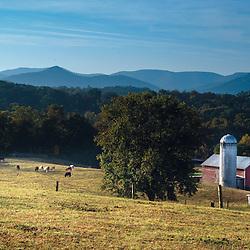 October 6, 2013 - Luray, VA - A view of the Shenandoah Mountain range from New Market/Luray Virginia.