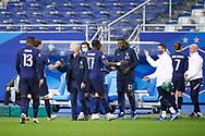 Didier Deschamps (FRA) greeted Benjamin Pavard (FRA) ate the end of the game, Antoine Griezmann (FRA), Moussa Sissoko (FRA), Kurt Zouma (FRA) during the UEFA Nations League football match between France and Sweden on November 17, 2020 at Stade de France in Saint-Denis, France - Photo Stephane Allaman / ProSportsImages / DPPI