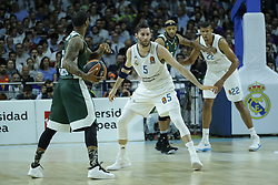 April 27, 2018 - Madrid, Spain - Rudy Fernandez of Real Madrid during the 2017/2018 Turkish Airlines Euroleague Play Off Leg Four between Real Madrid v Panathinaikos Superfoods Athens at WiZink Center on April 27, 2018 in Madrid, Spain Photo: Oscar Gonzalez/NurPhoto  (Credit Image: © Oscar Gonzalez/NurPhoto via ZUMA Press)