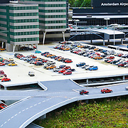 Amsterdam airport and parking lot in Maduradam Model Village