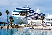 Celebrity cruise ship docked in St George, Bermuda