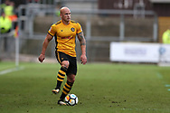 David Pipe of Newport County in action. The Emirates FA Cup, 2nd round match, Newport County v Cambridge United at Rodney Parade in Newport, South Wales on Sunday 3rd December 2017.<br /> pic by Andrew Orchard,  Andrew Orchard sports photography.