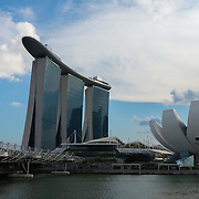 Marina Bay Sands Hotel and Helix bridge, Singapore