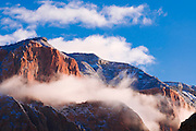 Fresh snow at dawn on the Kolob Canyons, Zion National Park, Utah