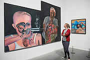 BBullet Shot in teh Stiomach -2001  hupen Khakhar: You Can't Please All at Tate Modern. It is the first international retrospective of the Indian artist since his death. He was known for his vibrant, bold works that examine class and sexuality. The Exhibition runs from 1 June – 6 November 2016.