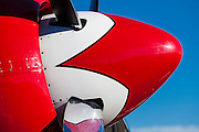 """Spinner of the Hawker Sea Fury """"Sawbones"""", at the 2012 Reno Air Races."""