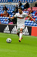 Football - 2020 / 2021 UEFA Nations League - Group B4 - Wales vs Bulgaria<br />      <br /> Galin Ivanov of Bulgaria on the attack<br /> in a match played with no crowd due to Covid 19 coronavirus emergency regulations, in an almost empty ground, at the Cardiff City Stadium.<br /> <br /> COLORSPORT/WINSTON BYNORTH