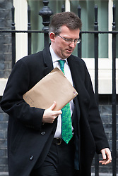 Downing Street, London, February 7th 2017. Attorney General Jeremy Wright leaves 10 Downing Street following the weekly UK cabinet meeting.