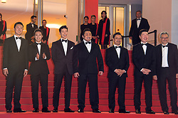 Lee Won-Tae, Ma Dong-Seok, Kim Mu-Yeol, Kim Sung-Kyu and members of the cast and crew arriving on the red carpet of 'The gangster The cop The devil' screening held at the Palais Des Festivals in Cannes, France on May 22, 2019 as part of the 72th Cannes Film Festival. Photo by Nicolas Genin/ABACAPRESS.COM