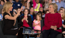 Oct. 04, 2016 - Haverford, PA, U.S. -  ELIZABETH BANKS speaks at a HILLARY CLINTON conversation with Delaware County families at the Haverford Community Recreation & Community Center.(Credit Image: © Brian Cahn via ZUMA Wire)