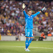 BARCELONA, SPAIN - August 25:  Goalkeeper Dani Martin #13 of Real Betis during the Barcelona V  Real Betis, La Liga regular season match at  Estadio Camp Nou on August 25th 2019 in Barcelona, Spain. (Photo by Tim Clayton/Corbis via Getty Images)