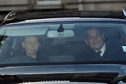 Lady Sarah Chatto and her husband Daniel leaving the Queen's Christmas lunch at Buckingham Palace, London.