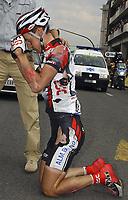 Sykkel<br /> Tour de France 2004<br /> 2. etappe<br /> 05.07.2004<br /> Foto: PhotoNews/Digitalsport<br /> NORWAY ONLY<br /> <br /> CHARLEROI - NAMUR<br /> <br /> Kurt-Asle Arvesen fikk et ublidt møte med bakken