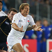 Jonny Wilkinson, England, in action during the England V Scotland Pool B match during the IRB Rugby World Cup tournament. Eden Park, Auckland, New Zealand, 1st October 2011. Photo Tim Clayton...