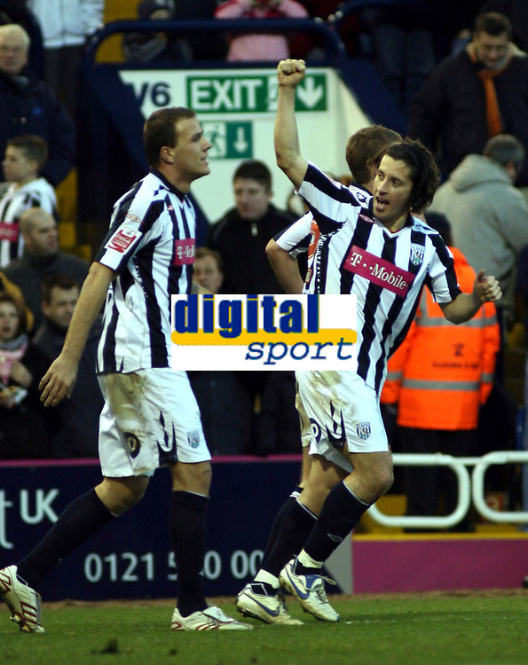 Photo: Mark Stephenson/Sportsbeat Images.<br /> West Bromwich Albion v Scunthorpe United. Coca Cola Championship. 29/12/2007.West Brom's Robert Koren celebrates his goal for 2-0