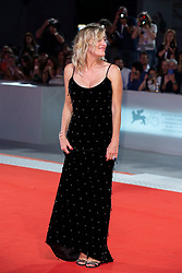 Valeria Bruni Tedeschi walks the red carpet ahead of Les Estivants (The Summer House) screening during the 75th Venice Film Festival at Sala Grande on September 5, 2018 in Venice, Italy. Photo by Marco Piovanotto/ABACAPRESS.COM