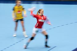 Anne Mette Hansen of Denmark in action during the Women's EHF Euro 2020 match between Denmark and Sweden at Jyske Bank BOXEN on december 11, 2020 in Kolding, Denmark (Photo by RHF Agency/Ronald Hoogendoorn)