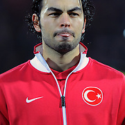 Turkey's Selcuk INAN during their International friendly soccer match Turkey between South Korean at the Avni Aker stadium in Trabzon, Turkey on Wednesday 09 February 2011. Photo by TURKPIX