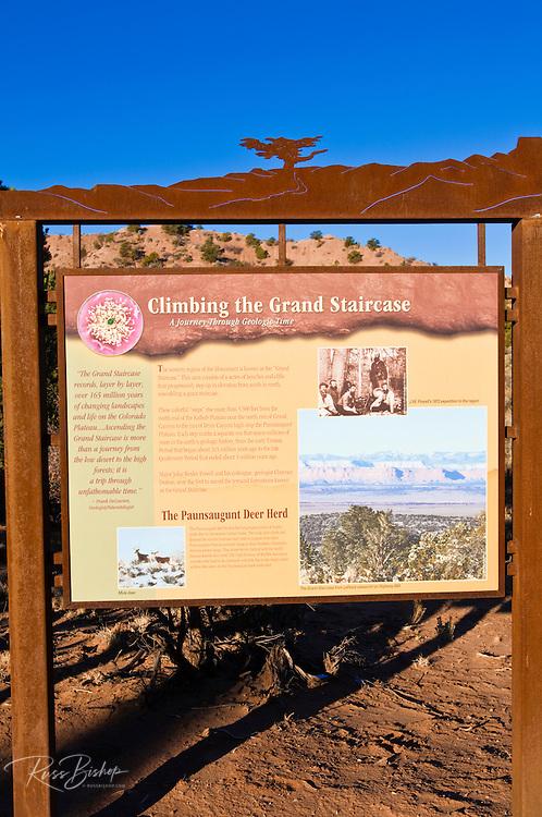 Interpretive sign at Grand Staircase-Escalante National Monument, Utah