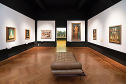 Gallery inside National Gallery of Modern and Contemporary Art, Rome, Italy