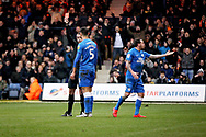 Peterborough Utd defender Ryan Tafazolli (5) gets a red card  during the EFL Sky Bet League 1 match between Luton Town and Peterborough United at Kenilworth Road, Luton, England on 19 January 2019.