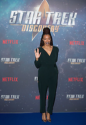 Sonequa Martin-Green attends the Star Trek: Discovery special fan screening photocall at Millbank Tower on Sunday, 5th November..Picture dated: Sunday November 5, 2017. Photo credit should read: Isabel Infantes / EMPICS Entertainment.