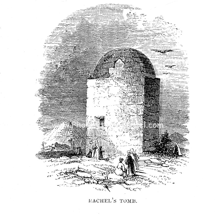 Rachel's Tomb From the Book 'Bible places' Bible places, or the topography of the Holy Land; a succinct account of all the places, rivers and mountains of the land of Israel, mentioned in the Bible, so far as they have been identified, together with their modern names and historical references. By Tristram, H. B. (Henry Baker), 1822-1906 Published in London in 1897
