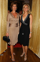Left to right, EMMA MARSH and TIA GRAHAM at a party hosted by Dom Perignon and Vanity Fair magazine to celebrate the launch of a unique collection of essays based on the theme of seduction to raise money for the charity English Pen. The paty was held at the Dom Perignon Mallroom,  13 Grosvenor Crescent, London W1 on 8th September 2004.